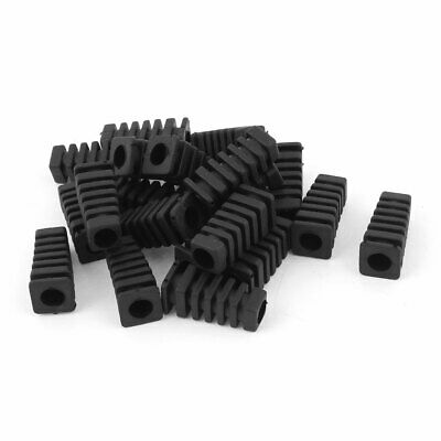 £5.50 • Buy 20pcs 27x9x6mm Mini Rubber Square Strain Relief Cord Boot Protector Cable Sleeve