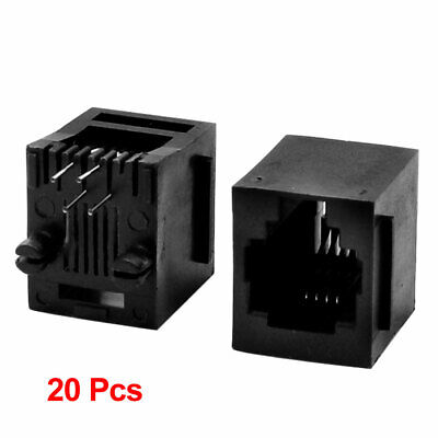 £5.50 • Buy 20 Pieces RJ11 4 Pin Network Jack Vertical Mount PCB Ports Ethernet Sockets