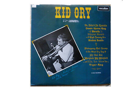 Kid Ory * Live * Uk Vinyl Lp Vocalion Lae-l 605 Plays Great • 14.95£
