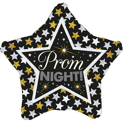 £2.49 • Buy Sparkly Prom Night Black Gold Silver Foil Star Helium Balloon Party Decorations
