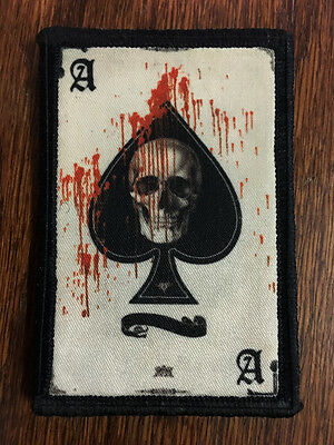 $7.99 • Buy Ace Of Spades Death Card Morale Patch Tactical ARMY Hook Military USA Badge Flag