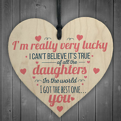 £3.99 • Buy Got The Best Daughter Hanging Heart Signs Mum Family Love Gifts For Her Plaques