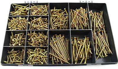 £9.95 • Buy 780 PC 6g 7g 8g 10g TIMCO ASSORTED YELLOW ZINC CHIPBOARD SOLO WOOD SCREWS KIT