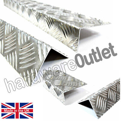 £9.40 • Buy Chequer Plate Angle 1.5 Mm Corner Protectors Step Repair Equal & Unequal Angles
