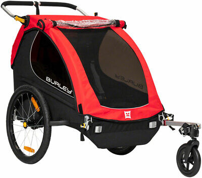 £283.92 • Buy Burley Honey Bee 2 Seat Child Bicycle Trailer / Stroller Red