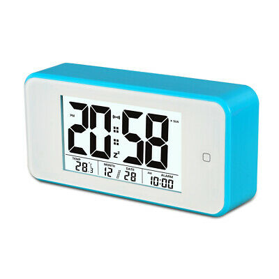 AU20.83 • Buy Smart Light Lcd Alarm Clock Backlit Display Portable Battery Operated - Blue