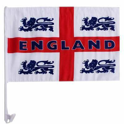 England 4 Lions Car Flag - White Flag, Blue 4 Lions, Red St George Flag • 4.99£