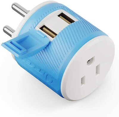 AU17.04 • Buy Thailand Travel Plug Adapter By OREI With Dual USB - USA Input + Surge