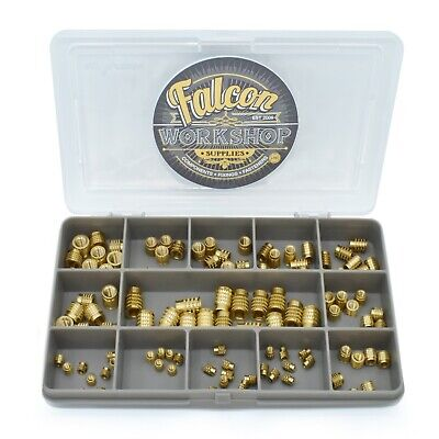 $19.31 • Buy 105 Assorted M3 M4 M5 M6 Threaded Press Fit Solid Brass Inserts For Plastic Kit