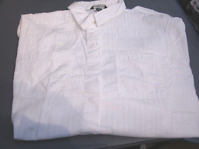 New Lands End Womens Voile Drop Shoulder Popover White Shirt Blouse X-small 2-4 • 12.50£