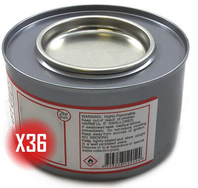 £23.80 • Buy Box Of 36 Tins 2+ Hour Chafing Gel Fuel For Buffets / Food Warming / Chafing Set