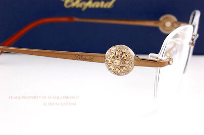 881305a0cc4 New Chopard Eyeglass Frames Rimless VCH A95S R80 Brown Crystal Women •  229.58