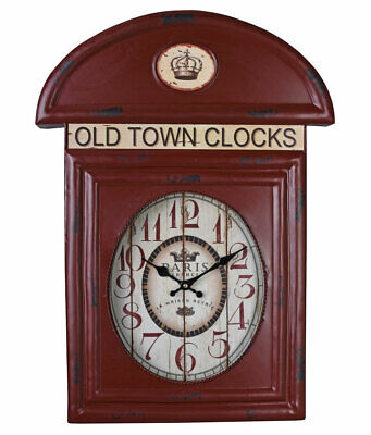 b444775bc7c9 Telefonzellenuhr London Reloj Antigua Rojo De Pared Vintage Cocina OLD TOWN  • 28.49€