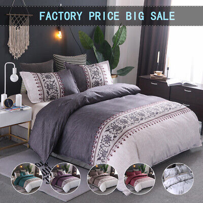 AU35.14 • Buy All Size Floral Duvet/Doona/Quilt Cover Set Double Queen King Bedding LInen Soft