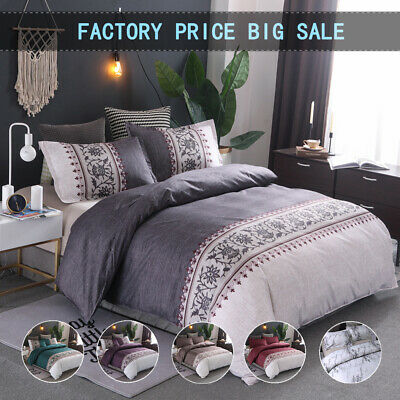 AU30.39 • Buy Bohemian All Size Floral Duvet/Doona/Quilt Covers Set Double Queen King Bedding