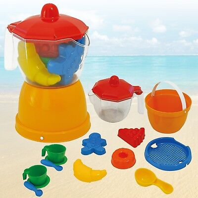 Kids Sea Side 15pcs Coffee & Sand Bucket Set Beach Play Moulds Water Assorted  • 7.99£