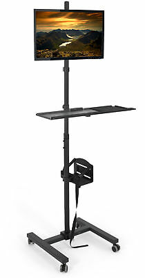 $119.99 • Buy VIVO Computer Mobile Cart Rolling Stand Monitor Mount Case Holder Keyboard Tray
