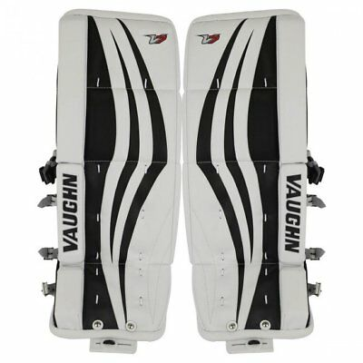 $199.99 • Buy New Vaughn Xr Goalie Leg Pads White/Black Junior 22 +2 Jr Ice Hockey Velocity V7