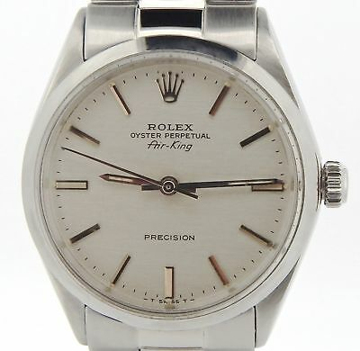 $ CDN3831.58 • Buy Rolex Air King Precision Men Stainless Steel Watch Oyster Style Band Silver 5500