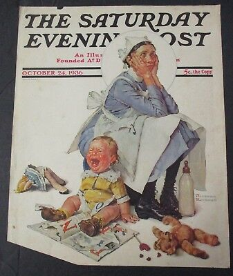 $ CDN26.35 • Buy Norman Rockwell October 24, 1936 Saturday Evening Post, COVER ONLY
