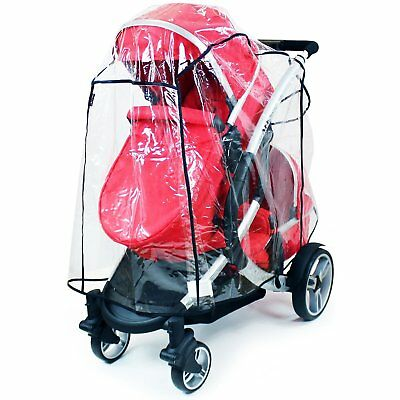 Universal Tandem Rain Cover To Fit Most Tandems, ICandy, Egg, Cosatto, Bugaboo • 17.95£