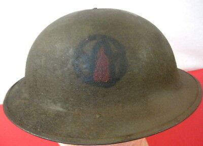$349.99 • Buy WWI US Army AEF M1917 Helmet W/Liner Hand Painted  89th Infantry Division Emblem
