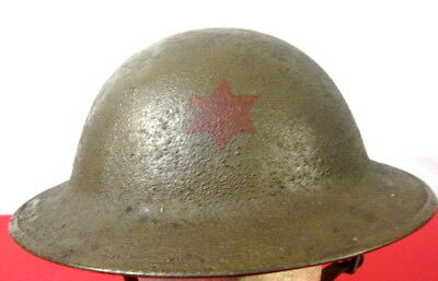 $325.99 • Buy WWI US Army AEF M1917 Helmet W/Liner Hand Painted - 6th Infantry Division Emblem