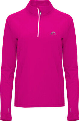 More Mile Vancouver 2 Womens Thermal Running Top Pink Half Zip Long Sleeve Shirt • 17.99£