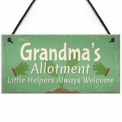 Garden Sign Grandma's Allotment Shed SummerHouse Hanging Plaque Nan Nanny Gift • 3.99£