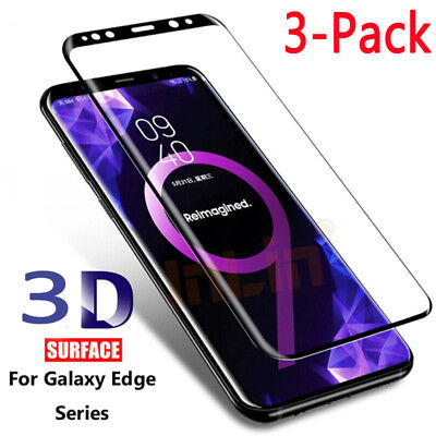 $ CDN6.34 • Buy 3 Pack Tempered Glass Screen Protector For Samsung Galaxy S8 Plus Note8 S7 Edge