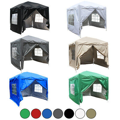 £124.99 • Buy 2.5x2.5m Outdoor Pop Up Gazebo Garden Party Marquee Tent With 4 Leg Weights Bags