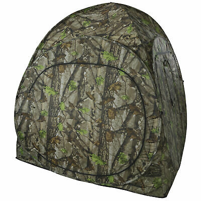 Pop-Up 1 Man Camouflage Stalking Hunting Photography Shooting Blind Tent Hide • 59.99£