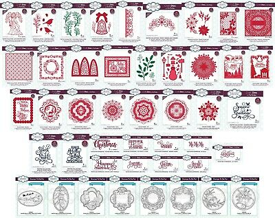 CREATIVE EXPRESSIONS - Sue Wilson Festive Dies, Stamps June 2018  Choice Of • 8.99£