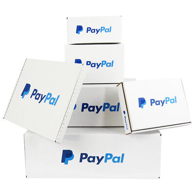 Quality Paypal Branded White Postal Mailing Shipping Boxes *100% Recycled* • 74.50£