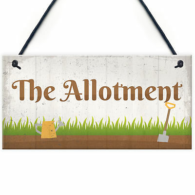 The Allotment Garden Sign Outdoor Shed Plaque Dad Grandad Grandma Birthday Gift • 3.99£