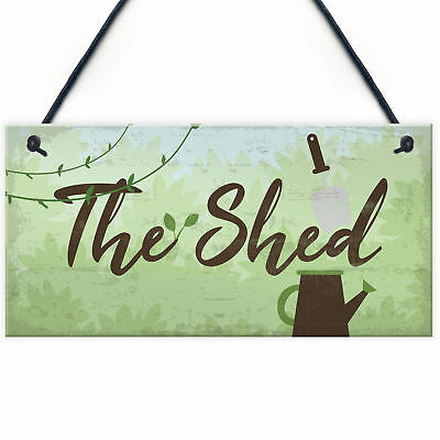 £3.99 • Buy The Shed Signs And Plaques Greenhouse Garden Sign Grandad Mum Nan Birthday Gift