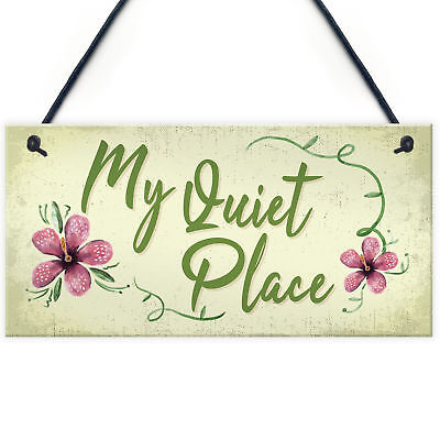 £3.99 • Buy Quiet Place Garden Sign Shed SummerHouse Plaque MUM NAN Women Gifts For Her