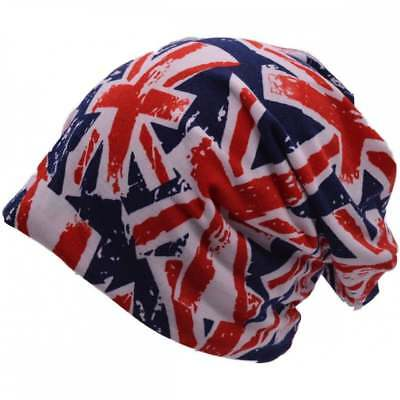 Union Jack Bright Slouch Beanie Hat • 8.99£