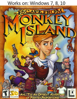 £12.02 • Buy Escape From Monkey Island PC Windows 7 8 10 More Games In Store