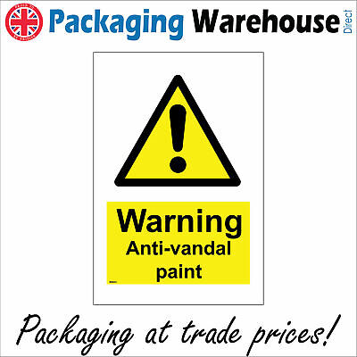 Warning Anti-vandal Paint Sign Ws623 Safety Sticker Rigid Indoor Outdoor • 15.58£