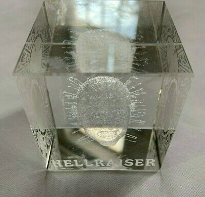 Hellraiser Pinhead Paperweight Laser Engraved Clear Acrylic Plastic 2  Cube • 35.81£
