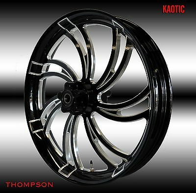 $1325 • Buy 2014-2020 Harley Davidson Road Glide 26  Kaotic Front Wheel Gloss Black Cut