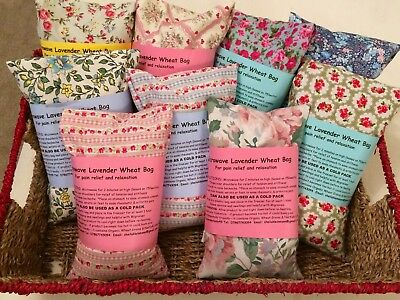 Pretty Cotton  Florals Microwave Lavender Wheat Bags Necks/backs Pain Relief   • 8.99£