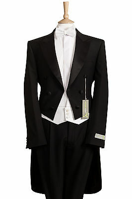 £149.99 • Buy 3 Piece White Tie Evening Tails Tailcoat Waistcoat Bow Tie Package (no Trousers)