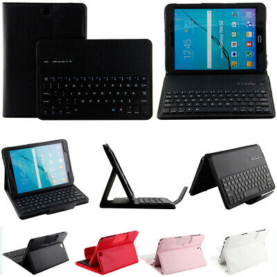 Leather Case Cover With Bluetooth Wireless Keyboard For Samsung Galaxy Tablets • 31.89£