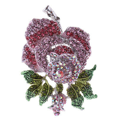 £5.52 • Buy Cute Broches Rose Flower Brooch Pin For Women Wedding Banquet Dress Jewelry