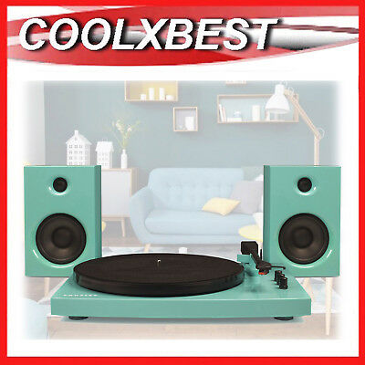 AU175.11 • Buy NEW CROSLEY T100 RECORD PLAYER TURNTABLE BLUETOOTH W SPEAKERS 30w TURQUOISE