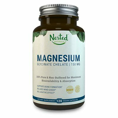 £17.69 • Buy MAGNESIUM GLYCINATE CHELATE 150mg   120 Non-Laxative High Absorption Vegan Ca...