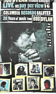 $14.99 • Buy Bob Dylan / Original Poster 30 Years Tribute Concert - Exc New Cond. / 24 X 42