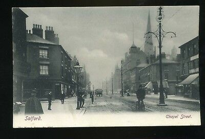 £9.99 • Buy SALFORD Lancashire   Chapel Street  With Shops / Church / People